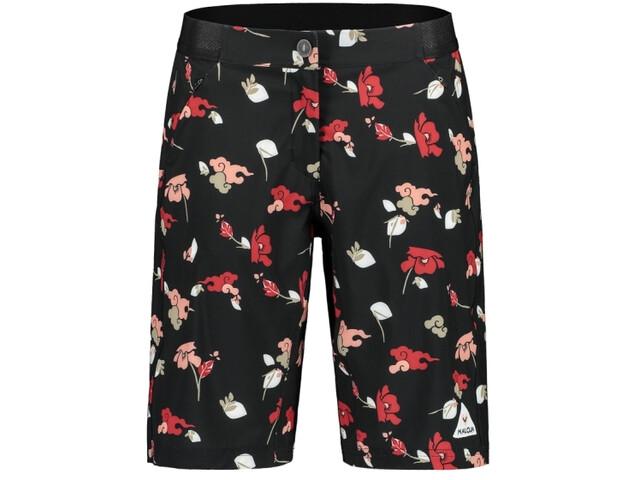 Maloja AnemonaM. Printed Multisport Shorts Women moonless poppy cloud